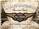 Harley Davidson American Classic large embossed metal sign  400mm x 300mm (na)
